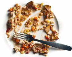Farro with Chicken and Chanterelle Ragù Recipe