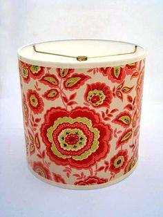 vintage wallpaper drum lamp shade by Fondue on etsy.com
