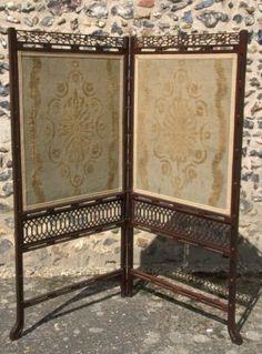 antique fire screen | The Antique Mahogany Fire Screen