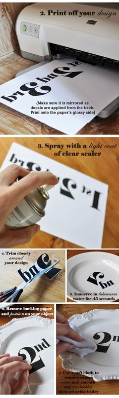 DIY transfer decal tutorial >> looks so simple! Must try!