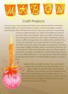 Book of Shadows page Mabon Crafts