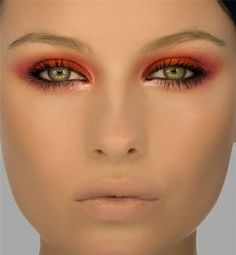 Red eyeshadow can be a real challenge, 'cause it can easily make the eye look sore and tired, but it can give such dramatic looks!!!