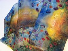 Scarf  with Mariposa butterfly dragonfly  by RobinMariaPedrero, $65.00 #SavvyBIZSolutions