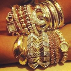 gold and bling