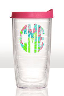 Monogrammed Tervis Tumbler in Lilly Prints