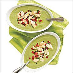 Avocado-Buttermilk Soup with Crab Salad Recipe