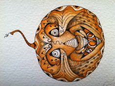 Halloween is in the air- Zentangled pumpkin by me- Debora bartlett