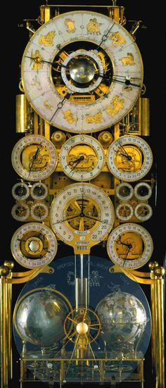 This remarkable timepiece, possibly the most complicated of its kind in the world, was designed and made by Rasmus Sørnes (1893 - 1967) in Moss, Norway.