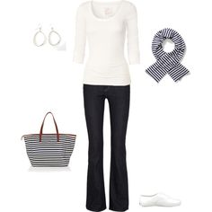 Casual, navy and white