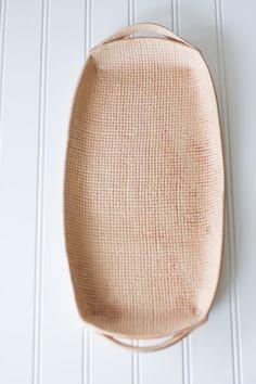 Handmade Pottery Tray - Burlap Brown - Ceramic Appetizer Plate - Serving Tray. $46.00, via Etsy.