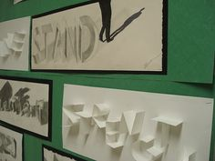Ed Ruscha inspired Word drawings- observational drawing, value, shading
