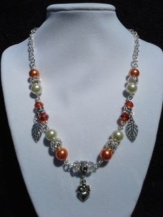 $20 Starting Bid: Orange Cream Necklace http://www.outbid.com/auctions/1697#1