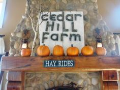 Cheery fireplace - Sugar Pie Farm