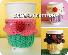 Cupcake Coffee Cup Cozy sleeve