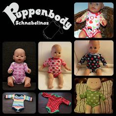 Free onesie pattern for dolls - not in English  Bitty Babies would be 38cm tall, so some minor enlarging/ shrinking when printing the pattern may be necessary.