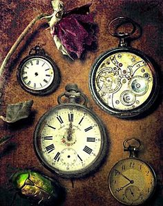 Time/clock inspirations / time will tell / have to wait / see what happens