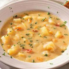 Roasted Garlic-Potato Soup