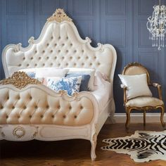 Versailles Curved Luxury Upholstered Bed French Bedroom Pinterest