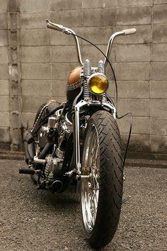 ♠ Harley Davidson Ironhead Sportster Bobber #Bike #Motorcycle #Chopper