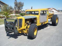 Diesel Tractor Rat Rod #yellow