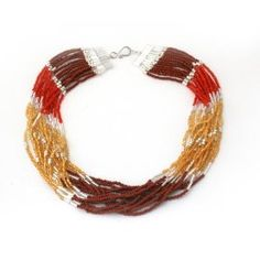 Cascading necklace, made by indigenous women in Guatemala. Each purchase helps local communities break the cycle of poverty and send their children to school. $27
