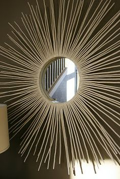 Sunburst Mirror from Sticks