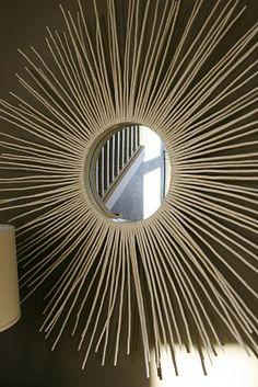 Sunburst Mirror from Sticks
