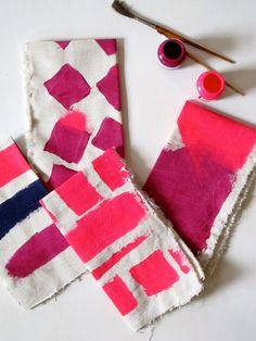 Heather Chontos Painted Linen Napkins