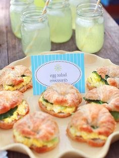 Would love these egg salad croissants with chicken salad instead