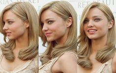 Miranda Kerr's blonde locks. Not like this or I will cry( my personal opinion) this girl is gorg. Just saying not on me
