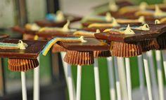 Brown Graduation Caps Cake Pops