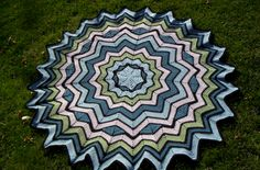 My Crochet afghan!  (Pattern by SmoothFox on Ravelry.)