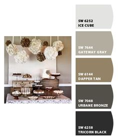 Gray and Tan Palette for Living Room/Dining Room/Kitchen. Paint colors from Chip It! by Sherwin-Williams.