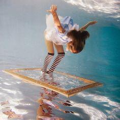 Trippy Underwater Alice in Wonderland Photos