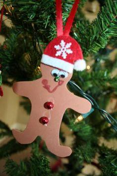 Adorable foam gingerbread ornament craft