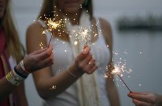 sparklers are always fun and festive