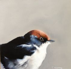 Swallow by Tracy McCulloch oil on canvas swallow