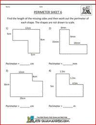 Perimeter Sheet 6, perimeter of rectilinear shapes