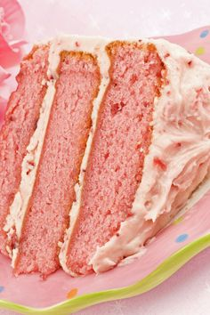 Strawberry Cake with Cream Cheese Frosting Recipe