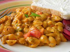Chili Cheese Pasta - 4 Ingredient Dinner