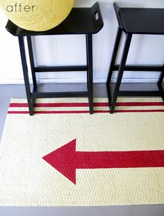 Paint a Rug and Punch Up Your Decor! 10 Stenciled Rug Projects. | The New Home Ec