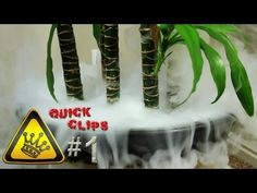 "Boiling hot water is poured on dry-ice, nestled inside a plant pot.    ""Quick Clips"" are clips of random experiments in a minute or less.    For other project videos, check out http://www.thekingofrandom.com"
