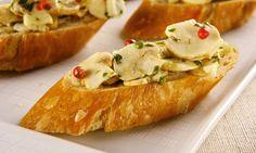 Receita de Bruschetta de champignon - Sanduíche - Dificuldade: Fácil - Calorias: 216