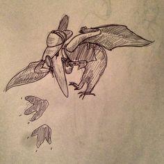Pterodactyl gumshoe detective