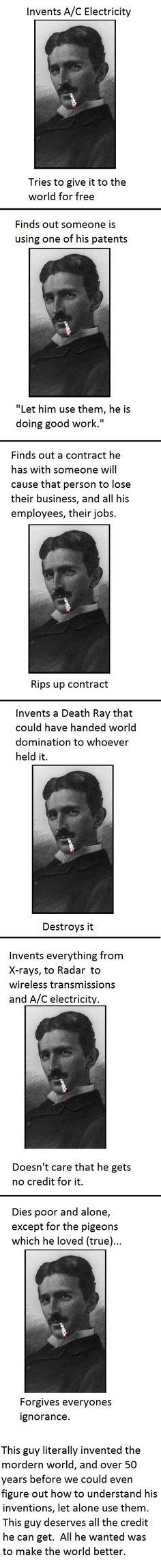 Nicola Tesla. Pure genius.
