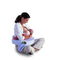 My Brest Friend Deluxe Feeding and Nursing Pillow, Blue