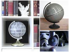 Star Wars home decor: DIY Death Star Globes