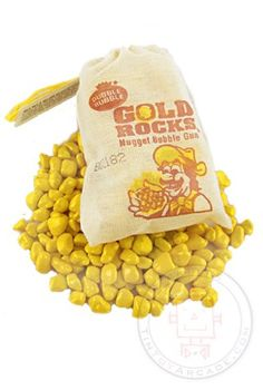 GOLD ROCKS NUGGET BUBBLE GUM