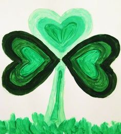 Shady Little Shamrocks- my art lesson about tints, shades, and St ...