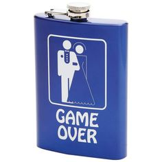 games, 8oz stainless, brides, flasks, graphics, steel flask, groom, blues, stainless steel